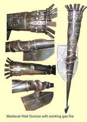 metal wall sconce medieval sty by shanti1971