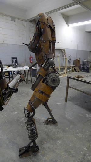 scrap steel woman  1 Work in progress
