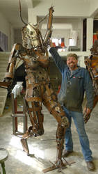 scrap steel woman 2 front and scale by shanti1971