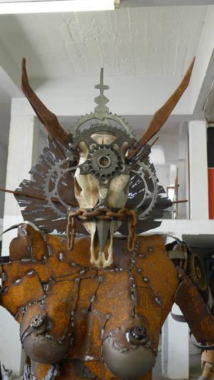 scrap steel woman 3 demon 3 detail