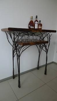 whisky tasting table tree style