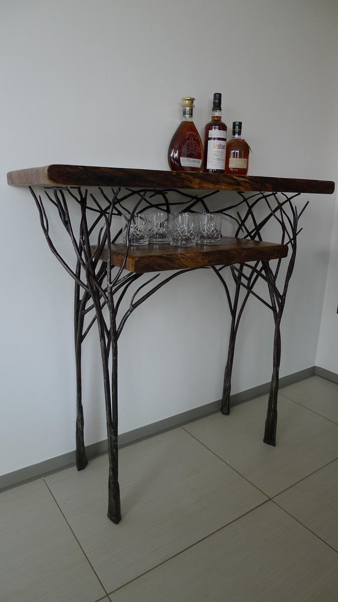 whisky tasting table tree style by shanti1971