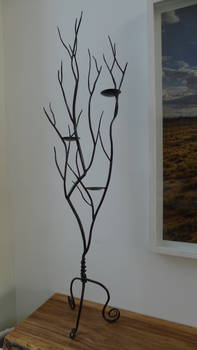 tree branch candle holder #1