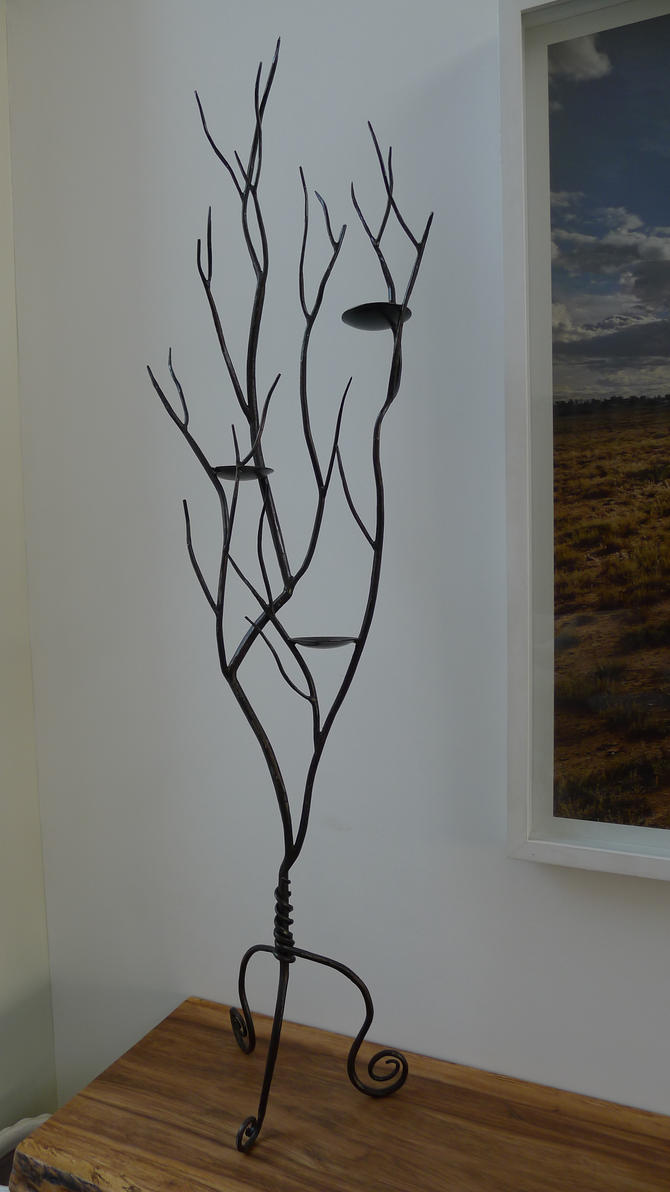 tree branch candle holder #1 by shanti1971