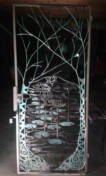 lotus pond gate in workshop