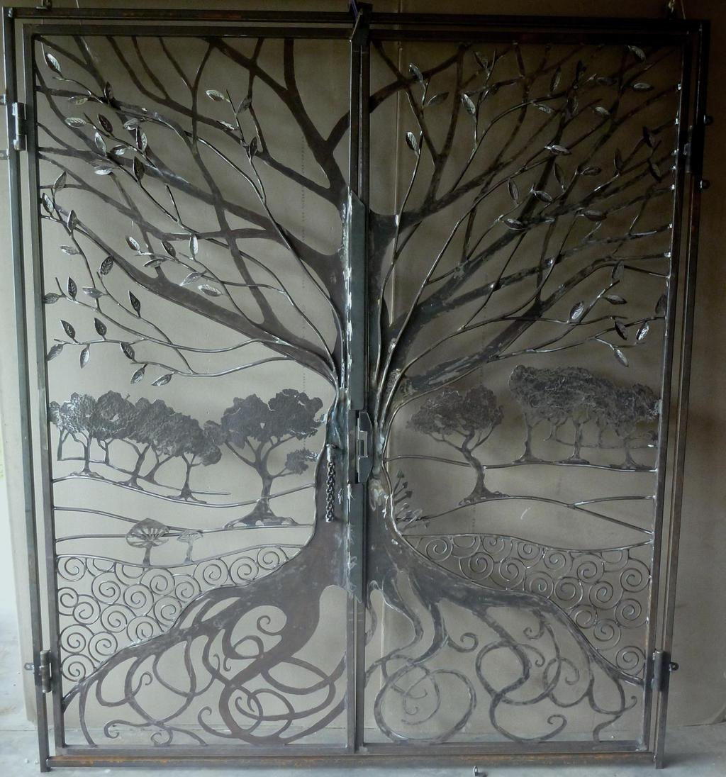Tree gate wrought iron by shanti1971