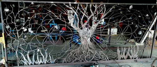Tree of life gate - unpainted WIP