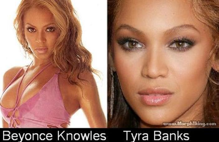 Tyra banks and beyonce look alike
