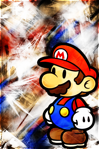 Mario Paper Ipod Wallpaper By Jayem13