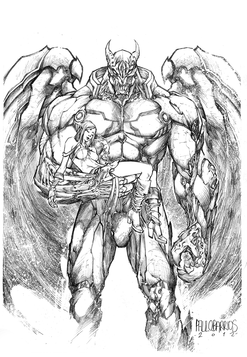 dragon god by paulobarrios