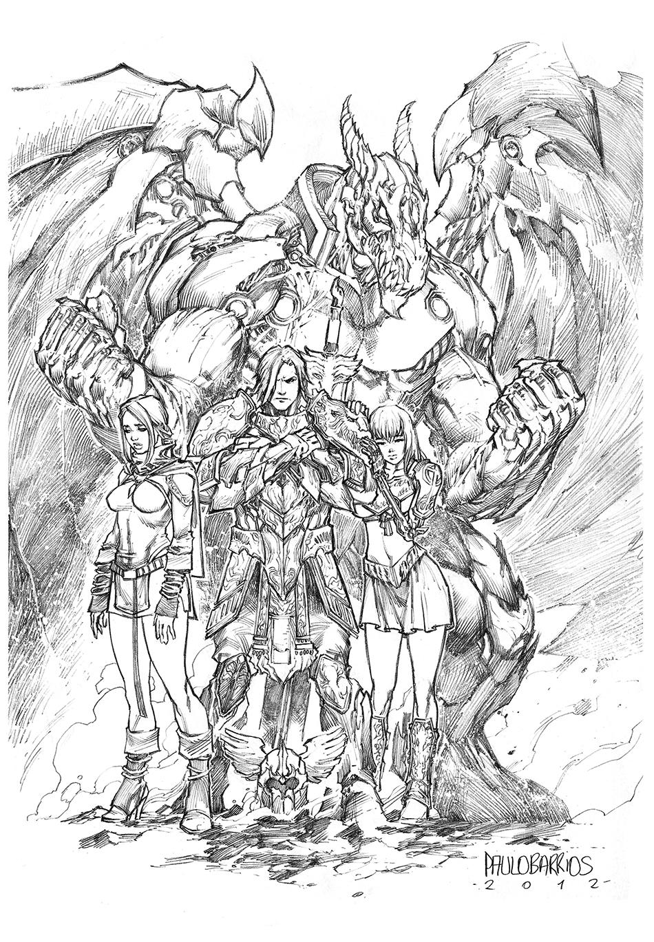 Heroic fantasy by paulobarrios