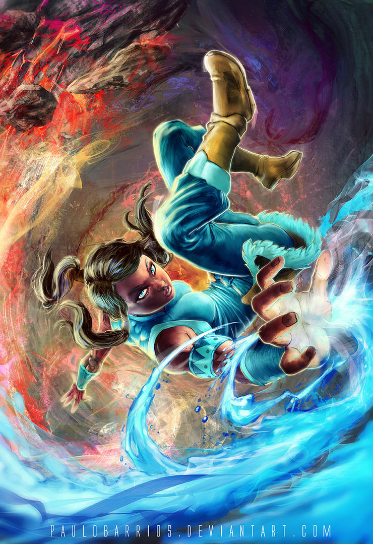 legend of korra by paulobarrios