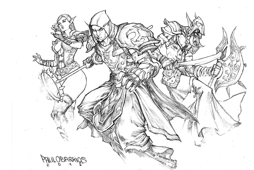 world of warcraft pencils by paulobarrios
