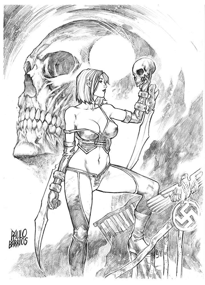 bloodrayne pencils by paulobarrios
