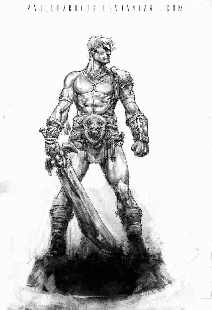 John Carter pencils by paulobarrios