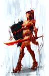 fantasy girl red