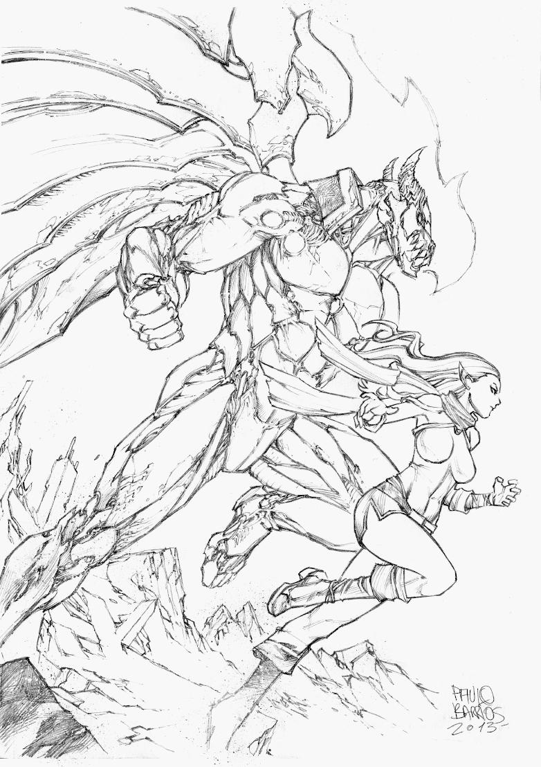 Heroic fantasy versus by paulobarrios