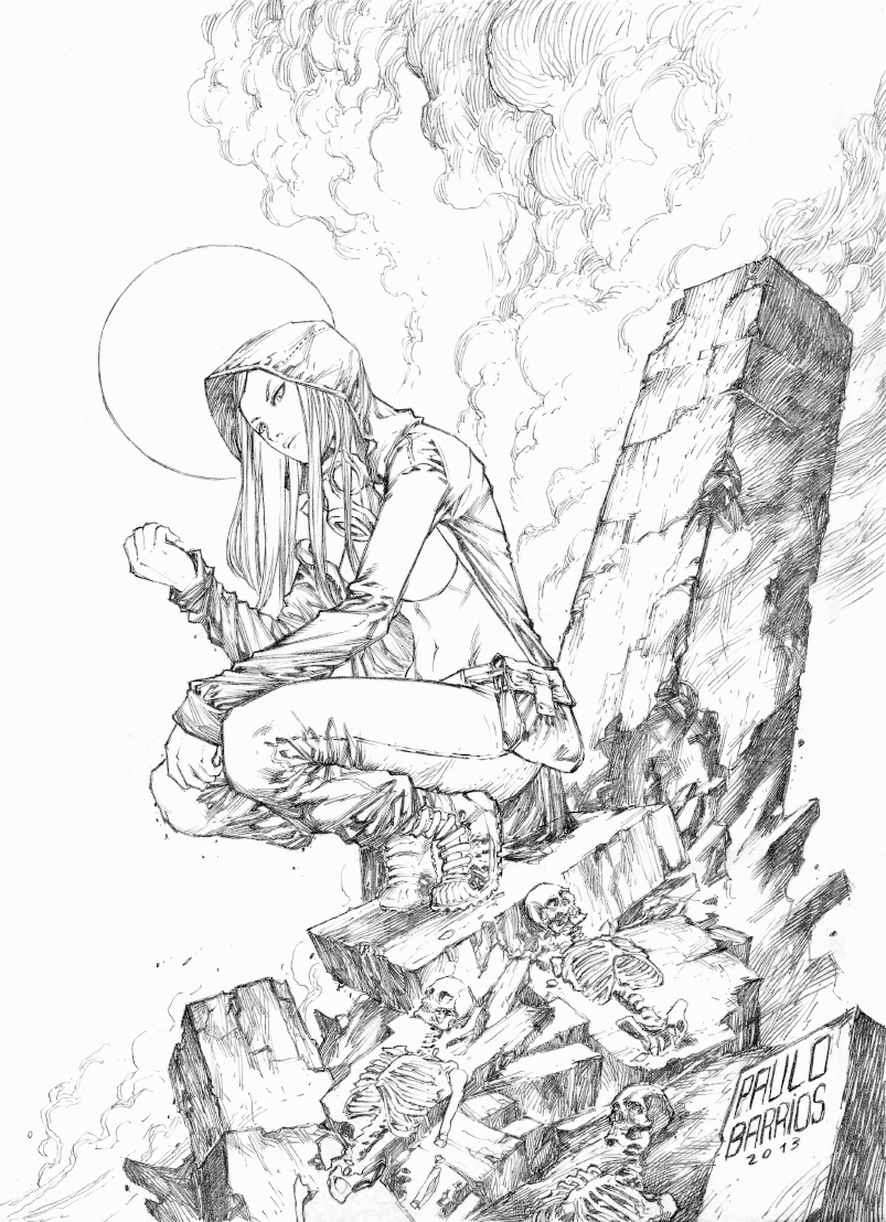 The Huntress  exalted pencils by paulobarrios