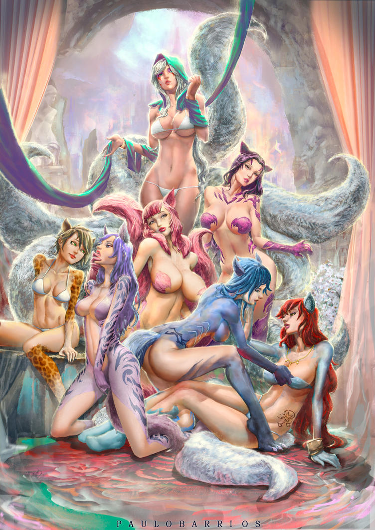 cat girls harem by paulobarrios