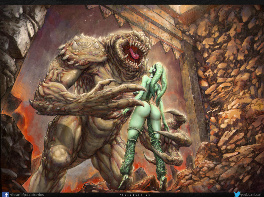 oola in the rancor pit by paulobarrios