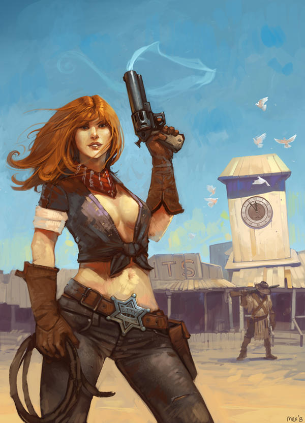Girl with Gun Art