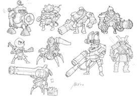Robocalypse sketches 2 by Sidxartxa