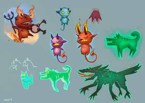 Imps and green dogs