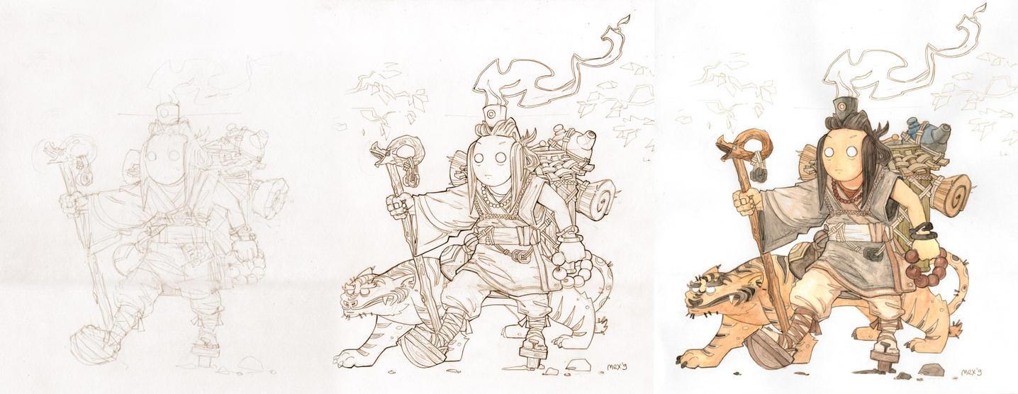 Monko sketches by Sidxartxa