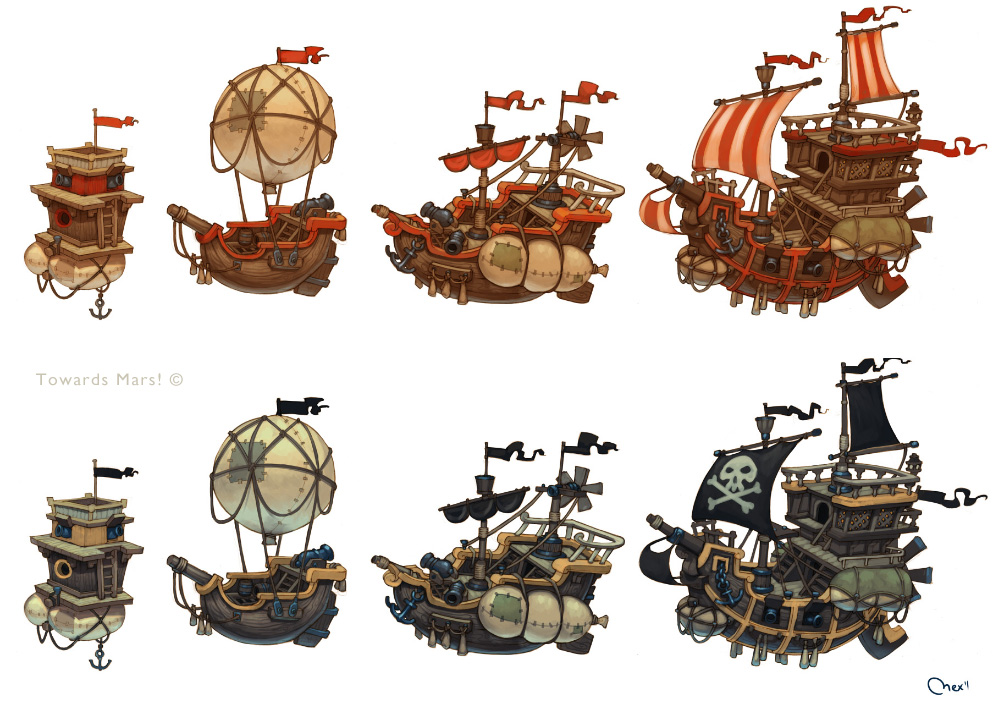 Pirates ships by Sidxartxa on DeviantArt