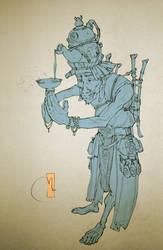 Tea God (lineart) by Sidxartxa