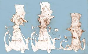 Octopus sketches by Sidxartxa