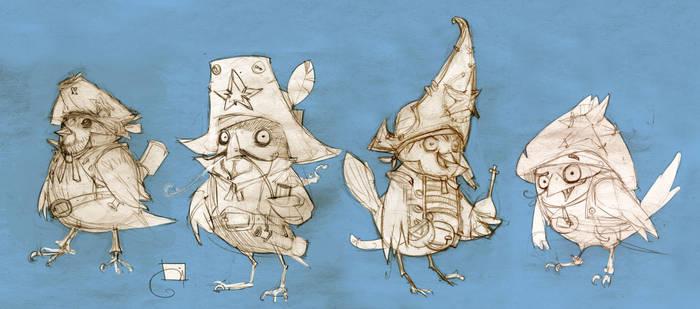 Sparrow sketches by Sidxartxa