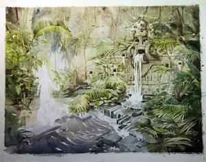 Junes Waterfall. Wip2.