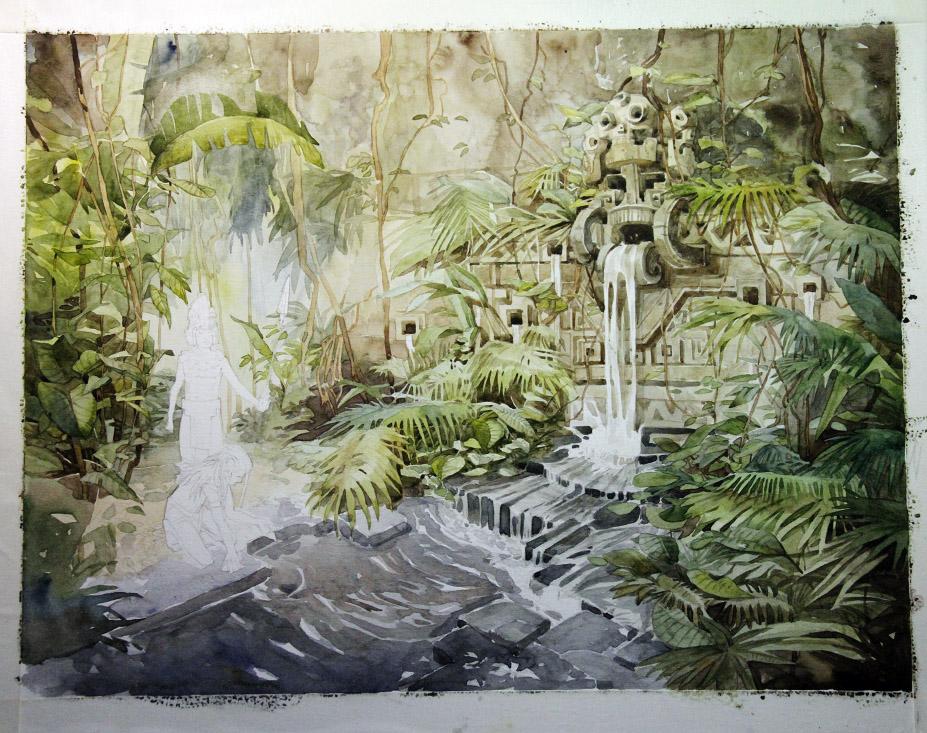 Junes Waterfall. Wip2. by Sidxartxa