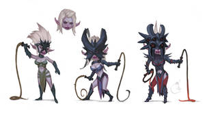 Drow girls remake