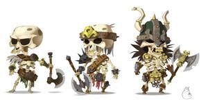 skeletons army