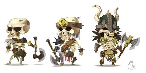 skeletons army by Sidxartxa