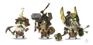 Dwarf zombies by Sidxartxa