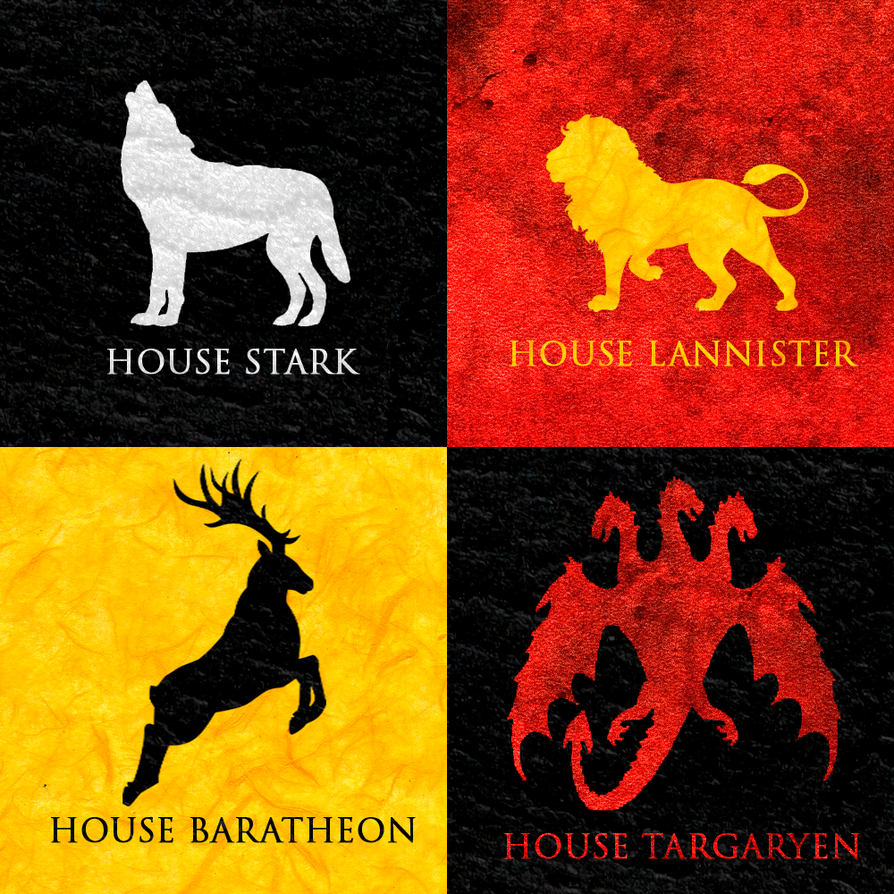 Game of thrones houses minimalist posters by for Minimalist house escape 4