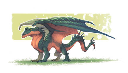 Dragon sketch by Timooon