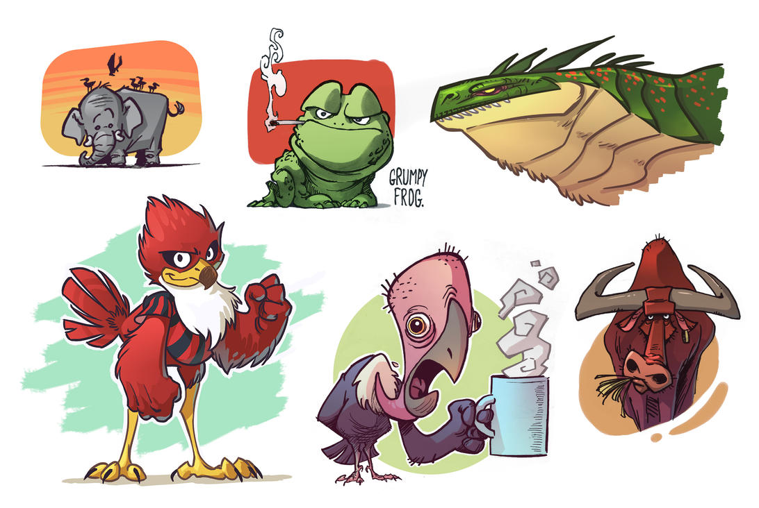 Cartoon animals by Timooon