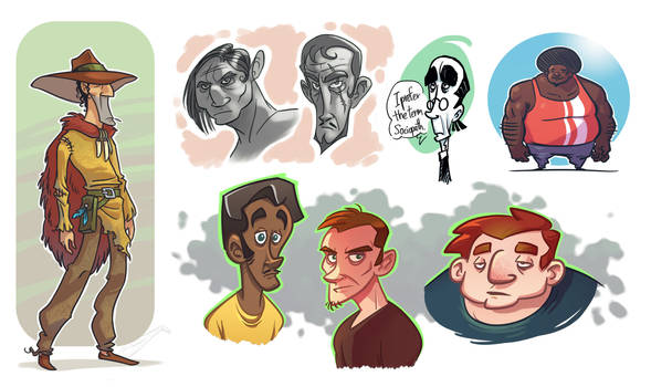 People sketches 2 by Timooon