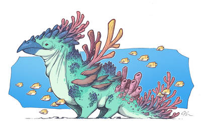 Coral Parrot Creature 2 by Timooon