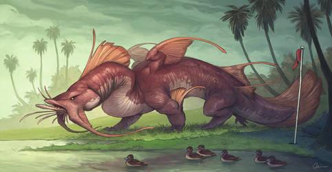 Goonch Catfish Dragon
