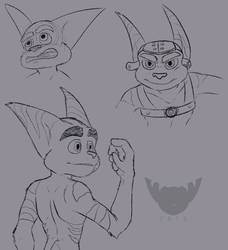Ratchet Sketches by BasicBiscuits