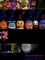 Fnaf Gender by OolimenoteoO