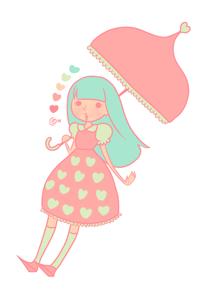 Cute girl with palette by FriKitty