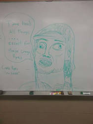 Board Drawings- Crazy Eyes by thebannanaking