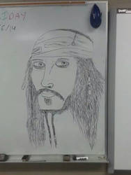 Board Drawings- Captin Jack Sparrow by thebannanaking