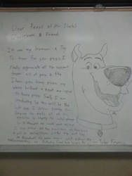 Board Drawings- Scooby dooby DOOO by thebannanaking